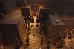 ратники terracotta лошадей Стоковое Изображение RF