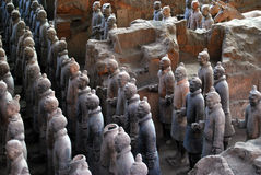 ратники terracotta Стоковые Фото