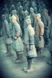 Ратники Terracotta стоковые фотографии rf