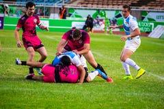 Ратники Welsh побили Аргентину на Safaricom Sevens 2014 Стоковое Фото