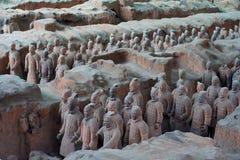 ратники xian terracotta лошадей фарфора стоковая фотография rf