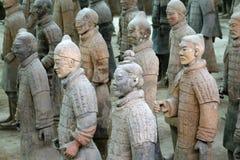 ратники xian terracotta фарфора известные Стоковое Изображение