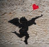 Ратник влюбленности и ангела бесплатная иллюстрация