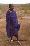 Ратник вождя Masai Стоковое Изображение RF