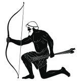 ратник древнегреческия иллюстрация вектора