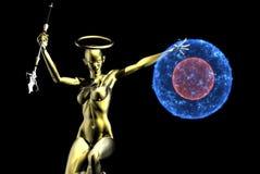 ратник золота ангела Стоковая Фотография RF