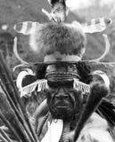 Ратник племени Dani портрета Стоковая Фотография RF
