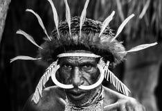 Ратник племени Dani портрета Стоковая Фотография
