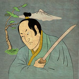 ратник шпаги позиции самураев katana бой Стоковые Фото