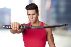 ратник шпаг ninja Стоковые Изображения RF