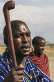 Ратник Maasai стоковое изображение