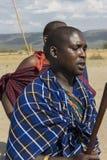 Ратник Maasai стоковые изображения rf