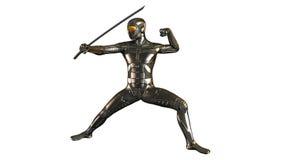 Ратник Ninja кибер с шпагой Стоковые Фотографии RF