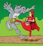 ратник riding клобука Стоковое Изображение RF