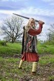 ратник viking девушки Стоковая Фотография RF