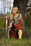 ратник viking девушки Стоковые Фотографии RF