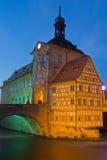 Ратуша в Бамберг, Бавария моста Стоковое Изображение RF