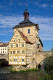 Ратуша в Бамберг, Бавария моста Стоковое Изображение