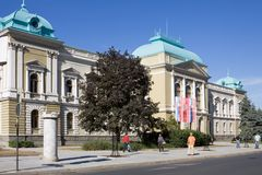 Ратуша в городе Krusevac в Сербии стоковое изображение rf