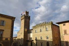 Ратуша города Ареццо - Тосканы - Италии 03 Стоковые Фотографии RF