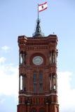 Ратуша красного цвета башни Стоковые Фото