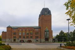 Ратуша на Joensuu, Финляндии Стоковое Фото