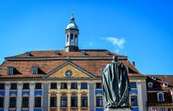 Ратуша ренессанса в Кобурге, Германии Стоковая Фотография RF