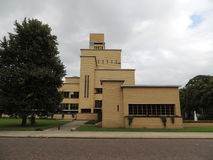 Ратуша Хилверсюма, Нидерландов, Европы Архитектор: W M Dudok Стоковое фото RF