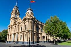 Ратуша Bendigo с башней с часами в Австралии Стоковое Изображение