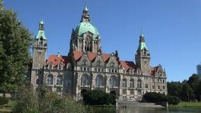 Ратуша Neues Rathaus Ганновера сток-видео