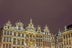 Ратуши на грандиозном месте в Брюсселе, Бельгии Стоковая Фотография