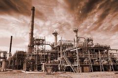 рафинадный завод загрязнения топлива Стоковые Фото