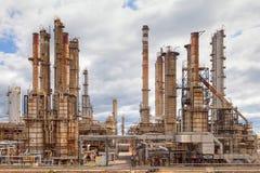 рафинадный завод нефтехимического завода масла индустрии Стоковая Фотография RF
