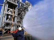 рафинадный завод топлива стоковое фото