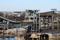 рафинадный завод угля Стоковое Изображение RF
