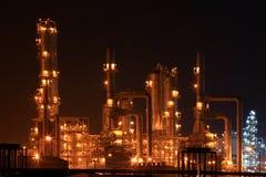 рафинадный завод petrochemical масла фабрики Стоковые Изображения RF