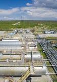 рафинадный завод нефтехимического завода масла индустрии Стоковые Изображения