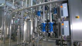 Рафинадный завод Смажьте, заправьте топливом конструкцию трубопровода внутри фабрики рафинадного завода сток-видео