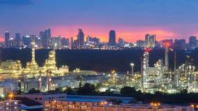 Рафинадный завод manufactory нефти Стоковые Фотографии RF
