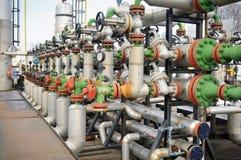 рафинировка масла газовых промышленностей Стоковое Фото