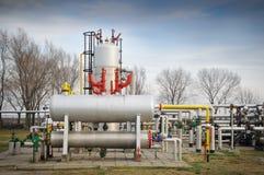 рафинировка масла газовых промышленностей Стоковая Фотография
