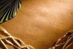 рафия бумаги листьев предпосылки коричневая Стоковые Фото