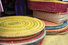 рафия basketry цветастая Стоковое Изображение RF