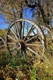 Рахитичная деревянная фура и колеса Стоковая Фотография