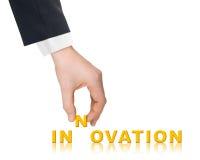 Рационализаторство руки и слова стоковое изображение