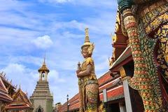 Радетель демона на Wat Phra Kaew Стоковые Фотографии RF