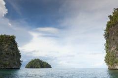 Раджа Ampat, западная Папуа, Индонезия Стоковые Изображения
