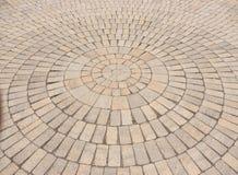 Радиальная картина вымощая камня Стоковые Фото