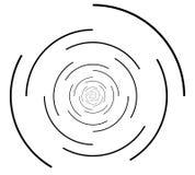 Радиальная серия геометрического элемента Абстрактная черно-белая форма Стоковые Фотографии RF