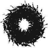 Радиальная серия геометрического элемента Абстрактная черно-белая форма Стоковое Фото